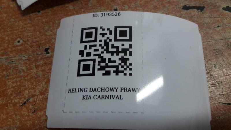 RELING DACHOWY LEWY KIA CARNIVAL