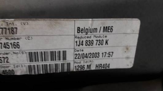 1J4839730K MECHANIZM SZYBY PRAWY TYL VW GOLF IV