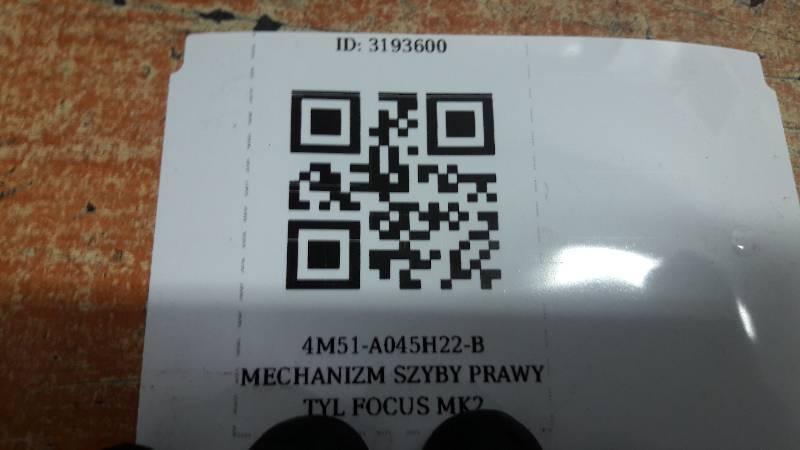 4M51-A045H22-B MECHANIZM SZYBY PRAWY TYL FOCUS MK2