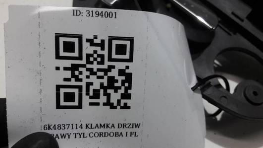 6K4837114  KLAMKA DRZIW PRAWY TYL CORDOBA I FL