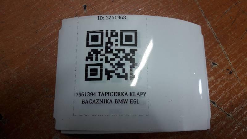 7061394 TAPICERKA KLAPY BAGAZNIKA BMW E61
