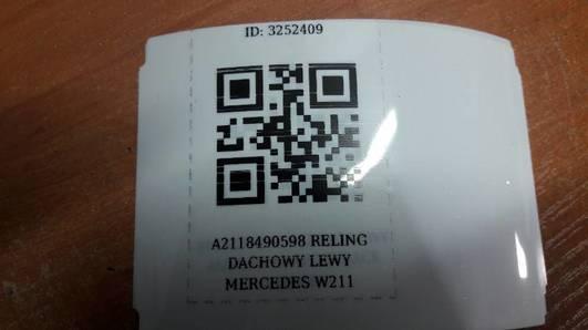 A2118490598 RELING DACHOWY LEWY MERCEDES W211