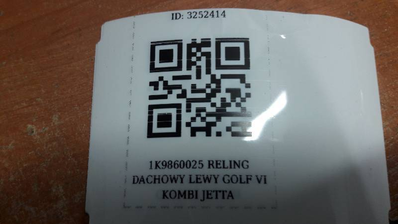 1K9860025 RELING DACHOWY LEWY GOLF VI KOMBI JETTA