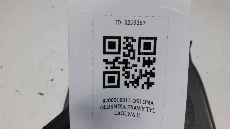 8200016012 OSLONA GLOSNIKA PRAWY TYL LAGUNA II