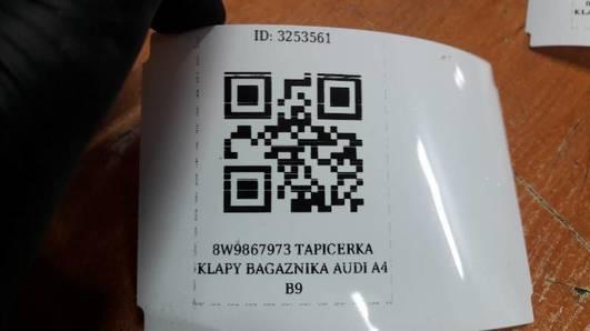 8W9867973 TAPICERKA KLAPY BAGAZNIKA AUDI A4 B9
