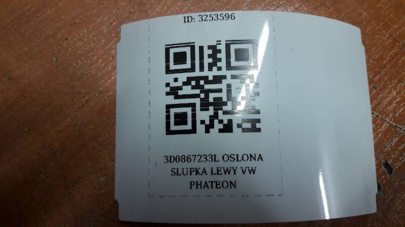 3D0867233L OSLONA SLUPKA LEWY VW PHATEON
