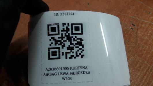A2038601905 KURTYNA AIRBAG LEWA MERCEDES  W203