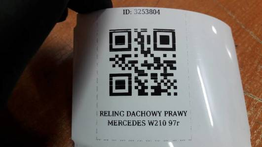 RELING DACHOWY PRAWY MERCEDES W210 97r
