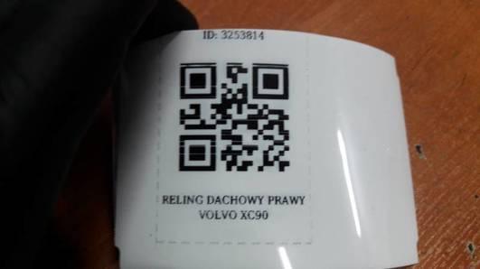 RELING DACHOWY PRAWY VOLVO XC90