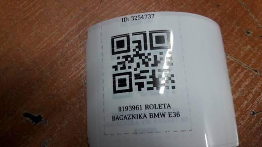 8193961 ROLETA BAGAZNIKA BMW E36