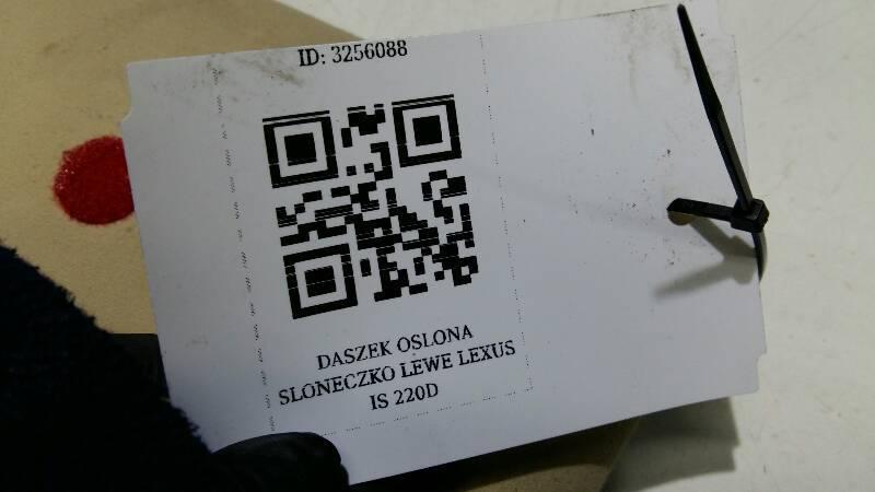 DASZEK OSLONA SLONECZKO LEWE LEXUS IS 220D