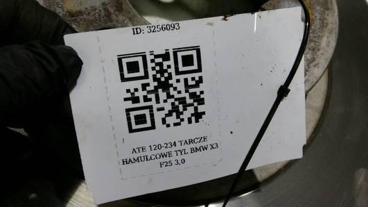 ATE 120-234 TARCZE HAMULCOWE TYL BMW X3 F25 3,0