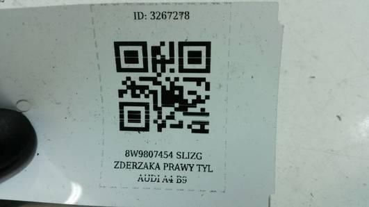 8W9807454 SLIZG ZDERZAKA PRAWY TYL AUDI A4 B9