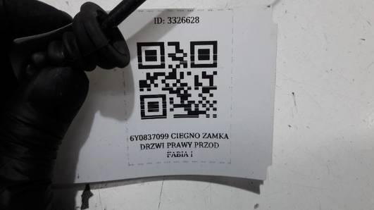 6Y0837099C CIEGNO ZAMKA DRZWI PRAWY PRZOD FABIA I