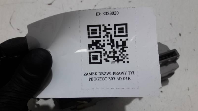ZAMEK DRZWI PRAWY TYL PEUGEOT 307 5D 04R