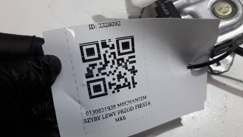 0130821938 MECHANIZM SZYBY LEWY  PRZOD FIESTA MK6