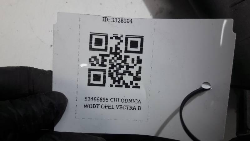 52466895 CHLODNICA WODY OPEL VECTRA B