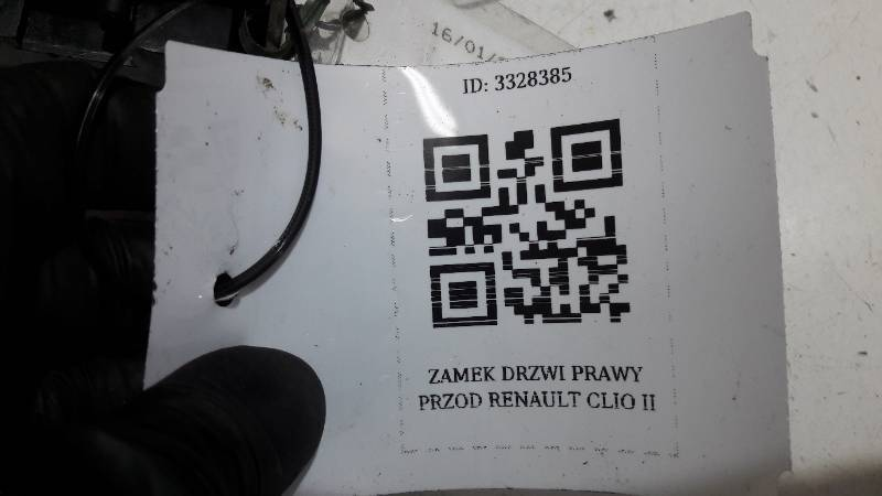 ZAMEK DRZWI PRAWY PRZOD RENAULT CLIO II 3D