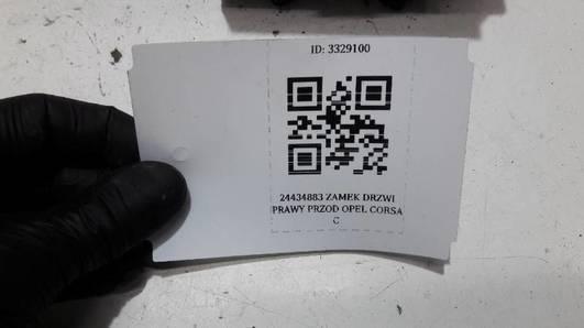 24434883EP ZAMEK DRZWI PRAWY PRZOD OPEL CORSA C