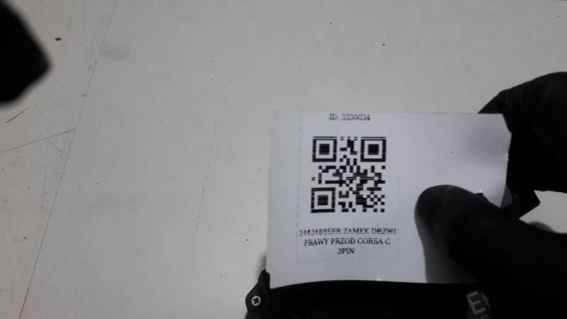 24434885ER ZAMEK DRZWI PRAWY PRZOD CORSA C 3PIN