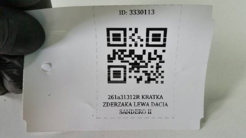 261A31312R KRATKA ZDERZAKA LEWA DACIA SANDERO II