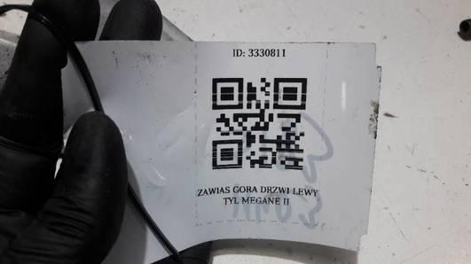 ZAWIAS GORA DRZWI LEWY TYL MEGANE II