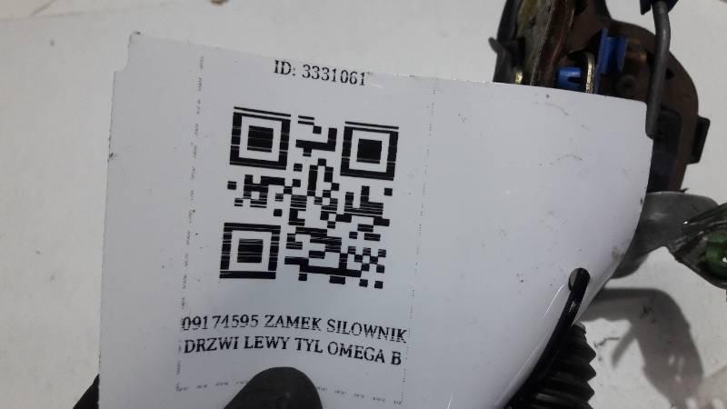 09174595 ZAMEK SILOWNIK DRZWI LEWY TYL OMEGA B