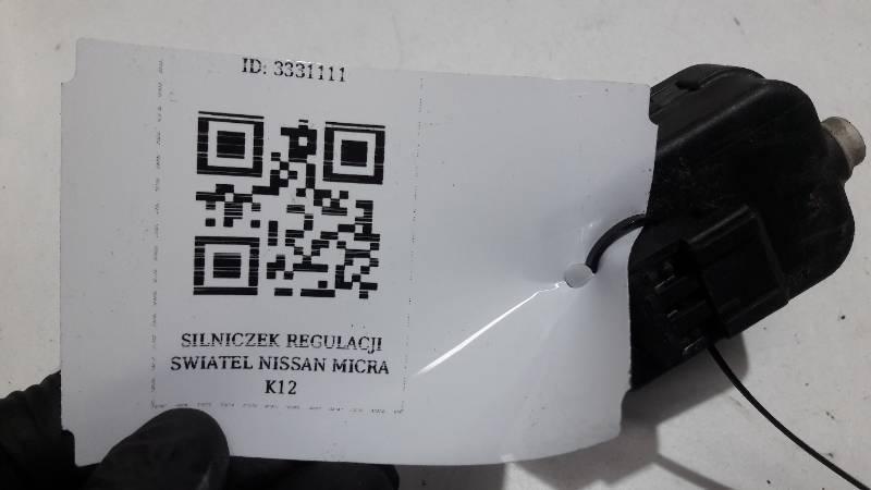 SILNICZEK REGULACJI SWIATEL NISSAN  MICRA K12
