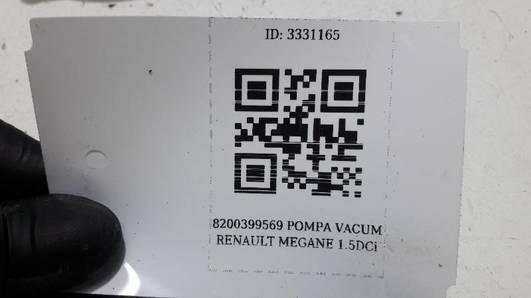 8200399569 POMPA VACUM RENAULT MEGANE II 1.5DCi