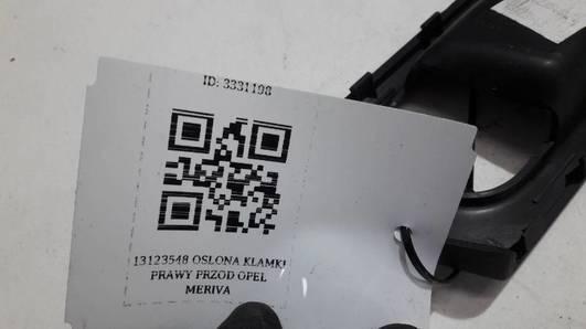 13123548 OSLONA KLAMKI PRAWY PRZOD OPEL MERIVA A