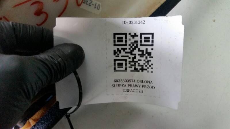 6025303574 OSLONA SLUPKA PRAWY PRZOD ESPACE III