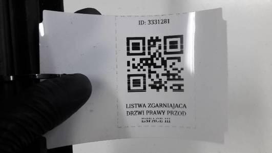 LISTWA ZGARNIAJACA DRZWI PRAWY PRZOD ESPACE III