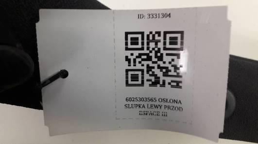 6025303565 OSLONA SLUPKA LEWY PRZOD ESPACE III