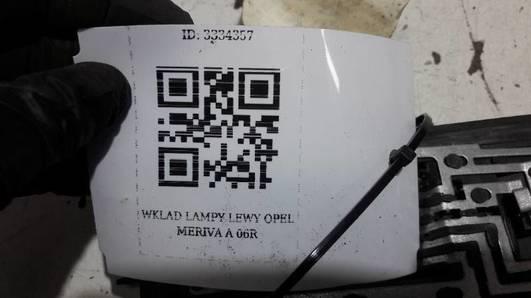 WKLAD LAMPY LEWY OPEL MERIVA A 06R