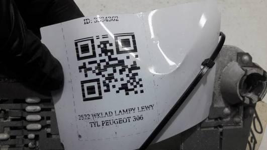 2522 WKLAD LAMPY LEWY TYL PEUGEOT 306