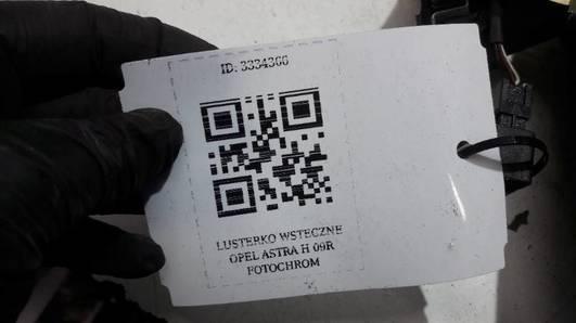 350-0083 LUSTERKO WSTECZNE ASTRA H  09R FOTOCHROM