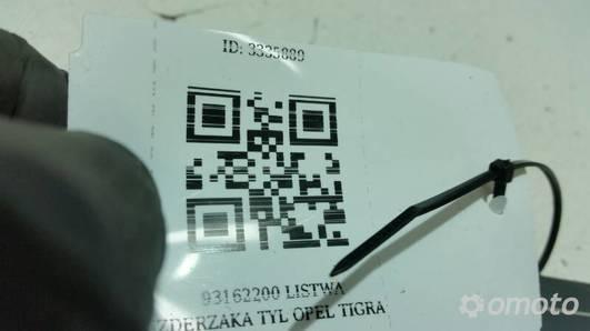 93162200 LISTWA ZDERZAKA TYL OPEL TIGRA B