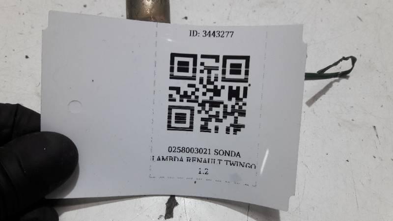 0258003021 SONDA LAMBDA RENAULT TWINGO 1.2