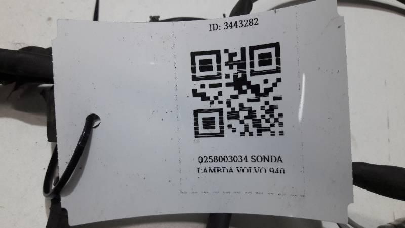 0258003034 SONDA LAMBDA VOLVO 940