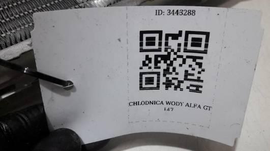 CHLODNICA WODY ALFA ROMEO GT 147 2.0 16V