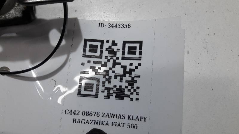 C442 08676 ZAWIAS KLAPY BAGAZNIKA FIAT 500