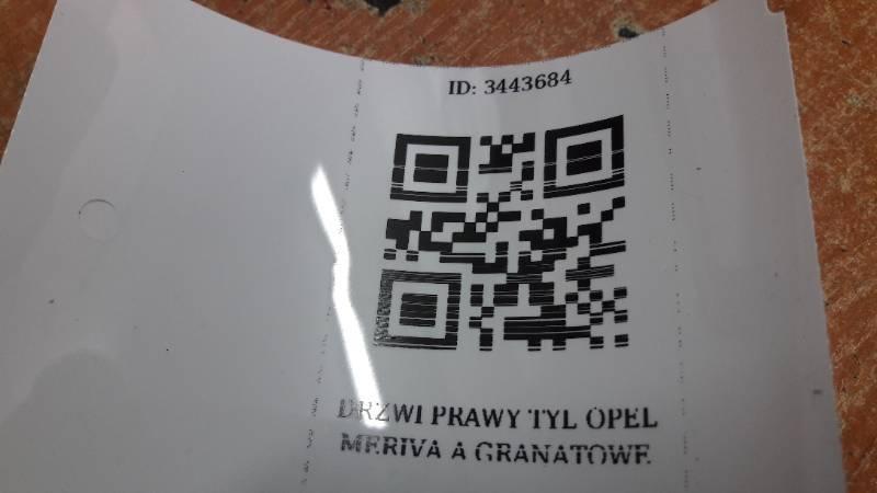 DRZWI PRAWY TYL OPEL MERIVA A GRANATOWE