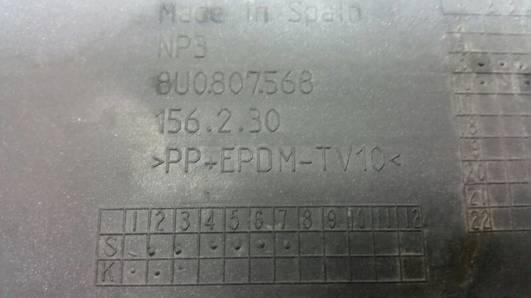 8U0807568 SPOILER ZDERZAKA TYL AUDI Q3