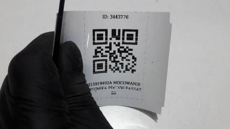 315919492A MOCOWANIE CZUJNIKA PDC VW PASSAT B8