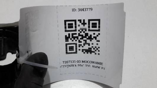 7207131-03 MOCOWANIE CZUJNIKA PDC TYL BMW F1