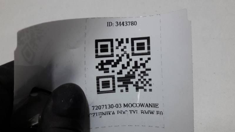 7207130-03 MOCOWANIE CZUJNIKA PDC TYL BMW F0