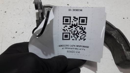 60552293 LAPA WSPORNIK ALTERNATORA ALFA ROMEO 156