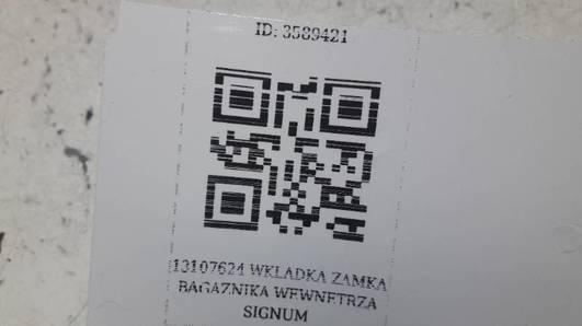 13107624 WKLADKA ZAMKA BAGAZNIKA WEWNETRZA SIGNUM