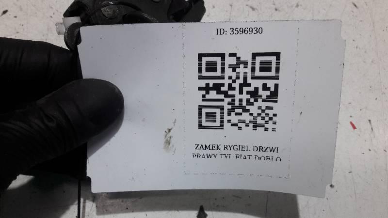 ZAMEK RYGIEL DRZWI PRAWY TYL FIAT DOBLO