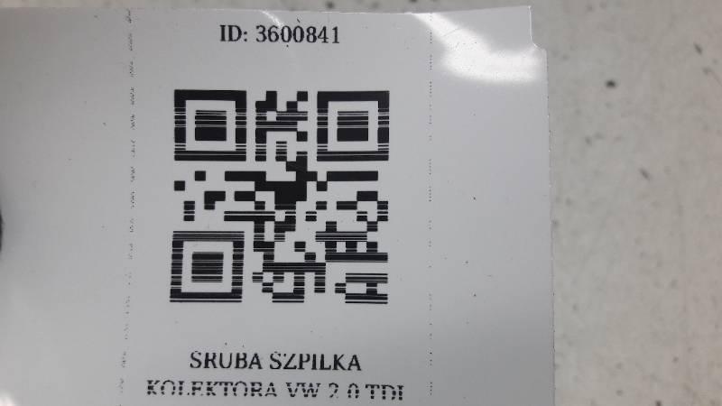 SRUBA SZPILKA KOLEKTORA  VW  2.0 TDI